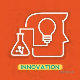 Creative illustration of human head with light bulb for Innovation concept.