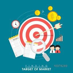 Creative infographic elements for Finding Target of Market.