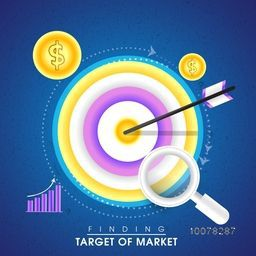 Creative infographic elements of Finding Target for Business concept.