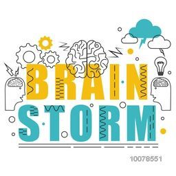 Creative Brain Storm Infographic elements on grey background for Business concept.