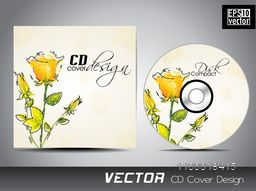 CD Cover design with beautiful flower decoration.