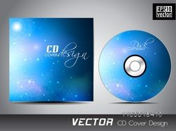 Glossy blue CD Cover design for your business.