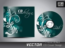 Beautiful floral design decorated CD Cover for your business.