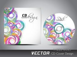 Abstract colorful circles decorated CD Cover design for your business.