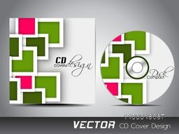 CD Cover design with abstract squares for business concept.