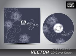 Beautiful creative flowers decorated CD Cover design.