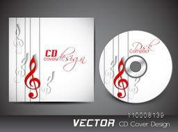 CD Cover design with musical notes.