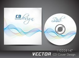 Creative waves decorated CD Cover design.