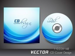 CD Cover design with abstract waves.