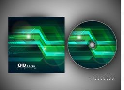 CD Cover with shiny abstract design for your business.