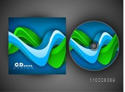 CD Cover design with abstract 3D waves for your business.