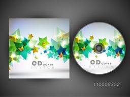 Creative CD Cover design decorated with glossy stars.