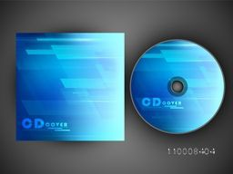 Blue CD Cover layout for business concept.