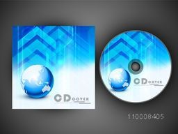 Creative abstract CD Cover design for business concept.
