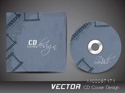 Vintage CD Cover design for business concept.