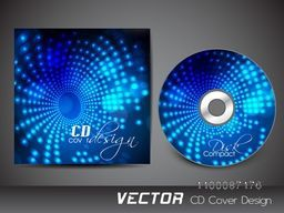 Creative shiny blue CD Cover design for your business.