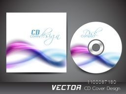 Abstract waves decorated CD Cover design for your business.