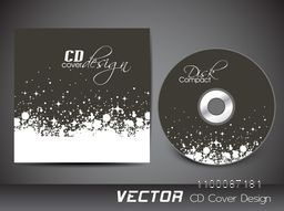 CD Cover design with abstract splash for your business.