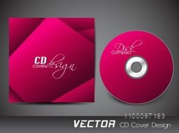 Abstract design decorated CD Cover layout for your business.