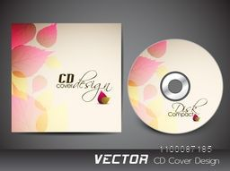 CD Cover design decorated with beautiful floral leaves.