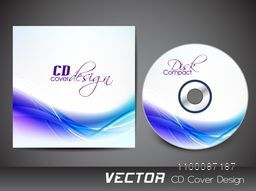 CD Cover design with abstract waves for your business.