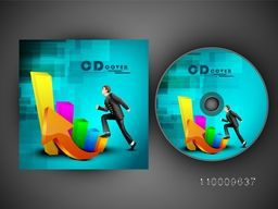 CD Cover design with infographic elements for your business.