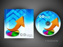 Creative CD Cover design with infographic elements for your business.