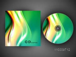 CD Cover design with waves for your business.