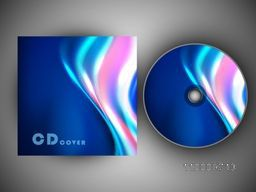 CD Cover design with glossy waves for your business.