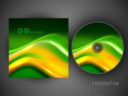 CD Cover design with glossy abstract waves.