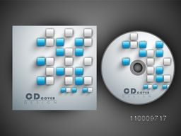 CD Cover design with glossy abstract square shapes for your business.