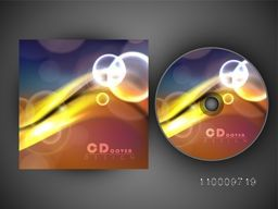 Glossy abstract waves decorated CD Cover design.