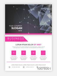 Creative abstract design decorated Template, Brochure or Flyer presentation for your Business.