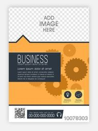 Professional Template, Brochure or Flyer design with space to add your image for Business concept.