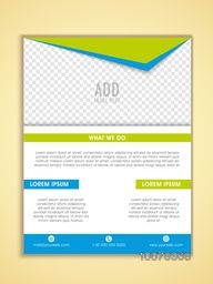 One Page Business Flyer, Banner, Pamphlet or Brochure with space for your image.