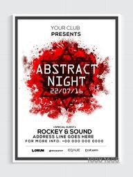 Abstract Night Party Template, Dance Party Flyer, Musical Party Banner or Club Invitation design.