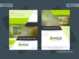 Front and back page view of creative flyer, template or brochure design for Business concept.