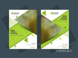 Modern abstract flyer design, Professional template with space for image and text, Creative brochure for Business concept.