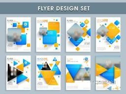 Creative flyer design set, Abstract template layout with space for images, Vector illustration for Business reports and presentation.