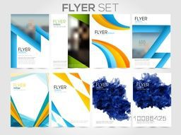 Professional flyer set with different abstract background, Creative template layout for Business concept.