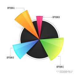 Colorful infographic chart on white background for Business reports and presentation.