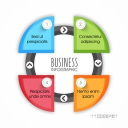 Colorful business infographic element layout, Can be used for workflow design, diagram, graphs, reports and financial data presentation.