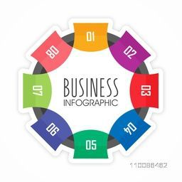 Creative paper infographic element for Business reports, diagram, workflow layout and financial data presentation.