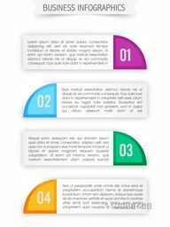 Creative paper infographic banners, Infographic template layout, Vector illustration for Business reports and presentation.