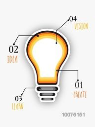 Creative infographic template layout with illustration of a light bulb for Business purpose.
