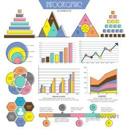 Collection of various Infographics elements for your Business report and financial data presentation.