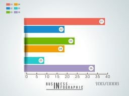 Colorful statistical infographic elements for your Business growth presentation.