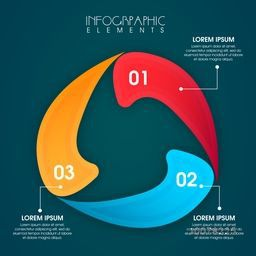 Creative colorful infographic elements for Business or Corporate sector.