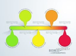 Colorful infographic elements for Business reports and presentation.