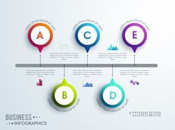 Creative infographic design elements for Business reports, workflow layout and presentation.